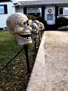 Our spooky sidewalk